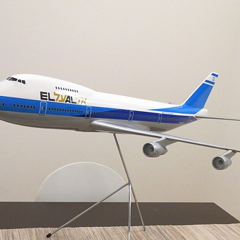 Skyland Models 1/72 Scale EL AL Boeing 747-200 model - Advertising