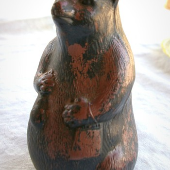 Need any info on this Curious looking Bear pottery Vase - Pottery