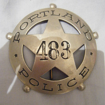 Vintage Portland Oregon Police badge