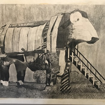 Cow pencil drawing  - Fine Art