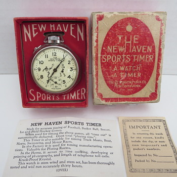 New Haven Sports Timer with Box - Pocket Watches