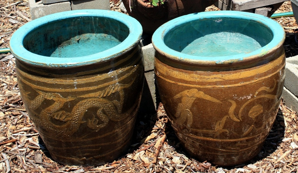 Two Large Chinese Dragon Pots Collectors Weekly