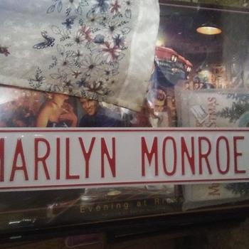 marilyn monroe street sign - Movies