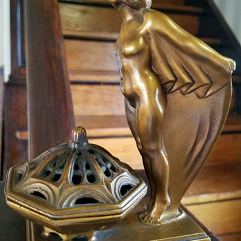 L.V. Aronson/Ronson Art deco 1920s incense burner - Art Deco