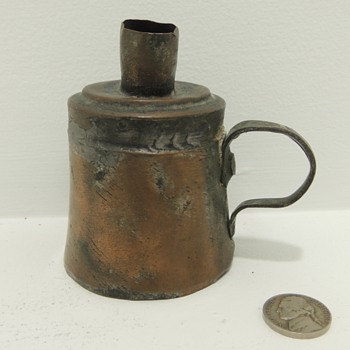 Copper/Brass Whale Oil lamp - Lamps