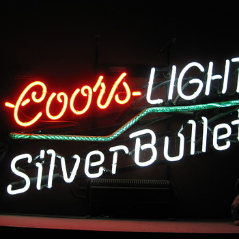 Coors light with Crackle Tube neon sign - Signs