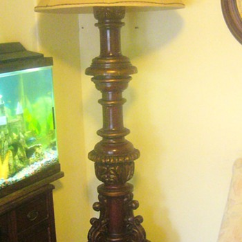 hand carved floor lamps - Lamps