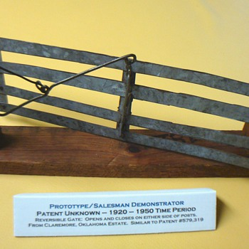 MODEL OF REVERSIBLE GATE FROM CLAREMORE, OK ESTATE - Advertising