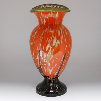 Enormous Art deco Kralik vase with Frog, Circa 1920-30 - Art Glass