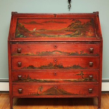 Mission Style Chinoiserie Desk C1910