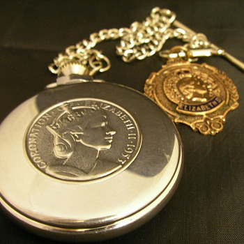 1953 Queen Elizabeth II Coronation Pocket Watch - No. 3 - Pocket Watches
