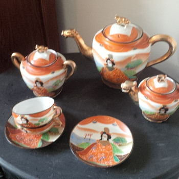 Handpainted Japanese Tea Set - Asian