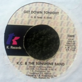 K.C. & The Sunshine Band 45 Record
