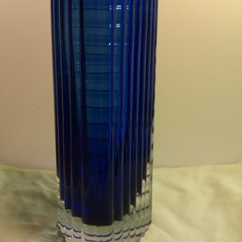 Blue Glass Vase ID Help  - Glassware