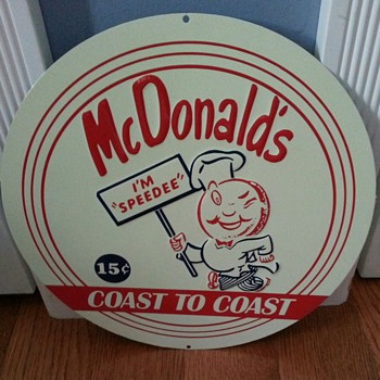 MC DONALDS ADVERTISEMENT TIN - Advertising