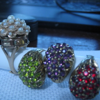 4 adjustable band Rings - Costume Jewelry