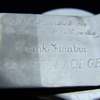 "Silver Dollar Money Clip inscribed on the back, ""you'll never be broke as long as you have me. Frank Sinatra, Cal Neva Lodge   - Silver"