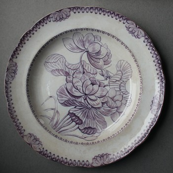 "Copeland Late Spode ""Lotus"" Dinner Plate - China and Dinnerware"