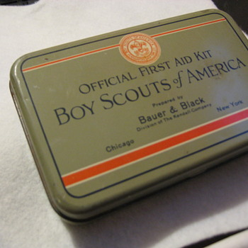 the Official Boy Scout First Aid Kit 1932  - Sporting Goods