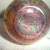 """Antique Bohemian Blue on Gold Wave Cranberry Vase 3.5"""" HELP"""