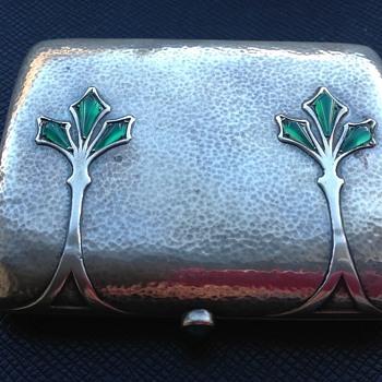 Silver Cigarette Case or Card Case by Heinrich Levinger  - Tobacciana