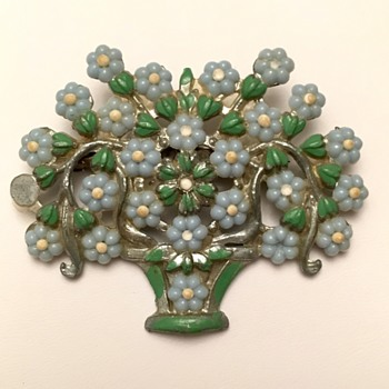 Flower Bouquet Brooch - Costume Jewelry