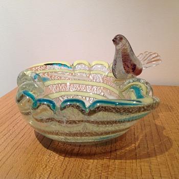MURANO BOWL & BIRD - Art Glass