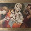 """Franz Hofstötter (1871-1958) original oil painting, """"The Holy Family"""", 1957"""