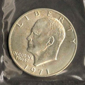 1971 S - Eisenhower Dollar UNC Mint Silver