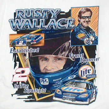 "NASCAR ""Rusty Wallace"" T-Shirt - Mens Clothing"
