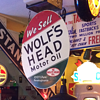 WOLF'S HEAD Motor Oil Double-sided Tin Sign