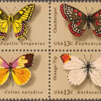 "1977 - ""Butterfly Issues"" Postage Stamps (US)"