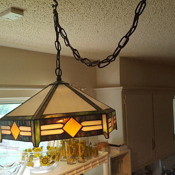 Antique and vintage hanging lamps collectors weekly tiffany style hanging lamp aloadofball Gallery