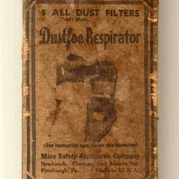 1940's - Dustfoe Respirator Filters - Tools and Hardware