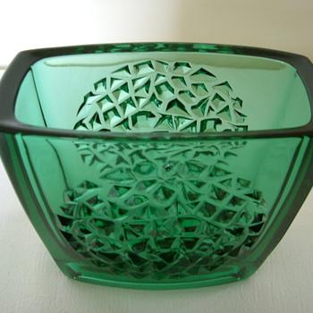 Sklo Union Bowl and Vases by Rudolf Jurnikl - Art Glass