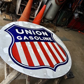 Very Early Pre 1934 Union Gasoline Sign - Signs