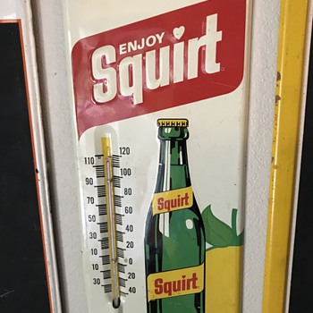 Squirt soda thermometer dated 1971  - Advertising