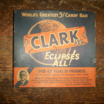 Clark candy box 1930s - Advertising