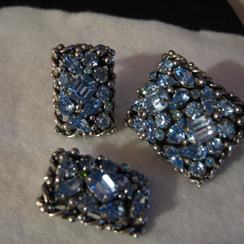 Pale Blue BARCLAY set - Costume Jewelry