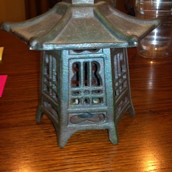 Japanese Cast Iron Lantern - Asian