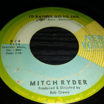 The Gents...#1...Mitch Ryder...On 45 RPM Vinyl - Records
