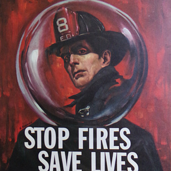 Mid-century Fire Prevention Poster - Politics
