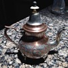 Copper Teapot with Silver tone engraving