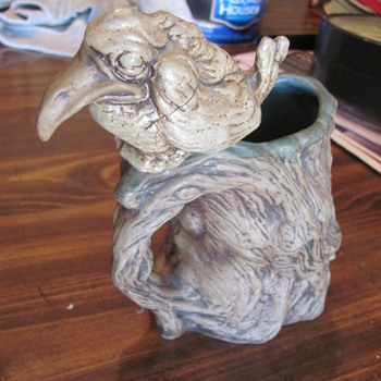 "1 of 4  Rumph  signed  art pottery mugs  we own  ""Dirty Bird"" - Pottery"