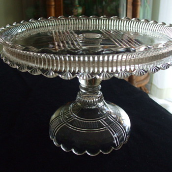 Thought I recognized this CAKE STAND Pattern but Alas..... - Glassware