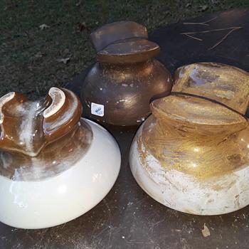 three more ceramic powerline insulators - Tools and Hardware