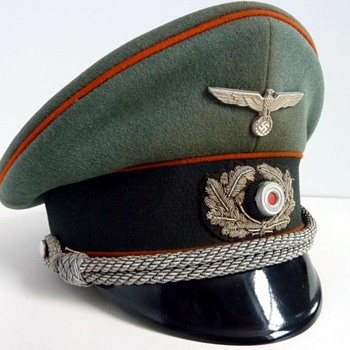 Third Reich visor cap of a Wehrmacht recruiting officer