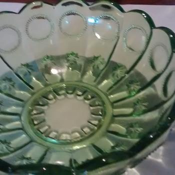 Small Green Bowl - Glassware