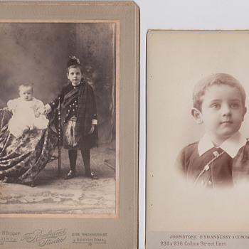 Cabinet cards possible same boy? - Photographs