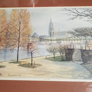 Frankfurt Limited Print by Hans Potrebny - Fine Art